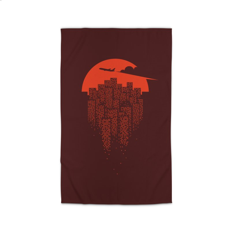say goodbye to the city Home Rug by netralica's Artist Shop