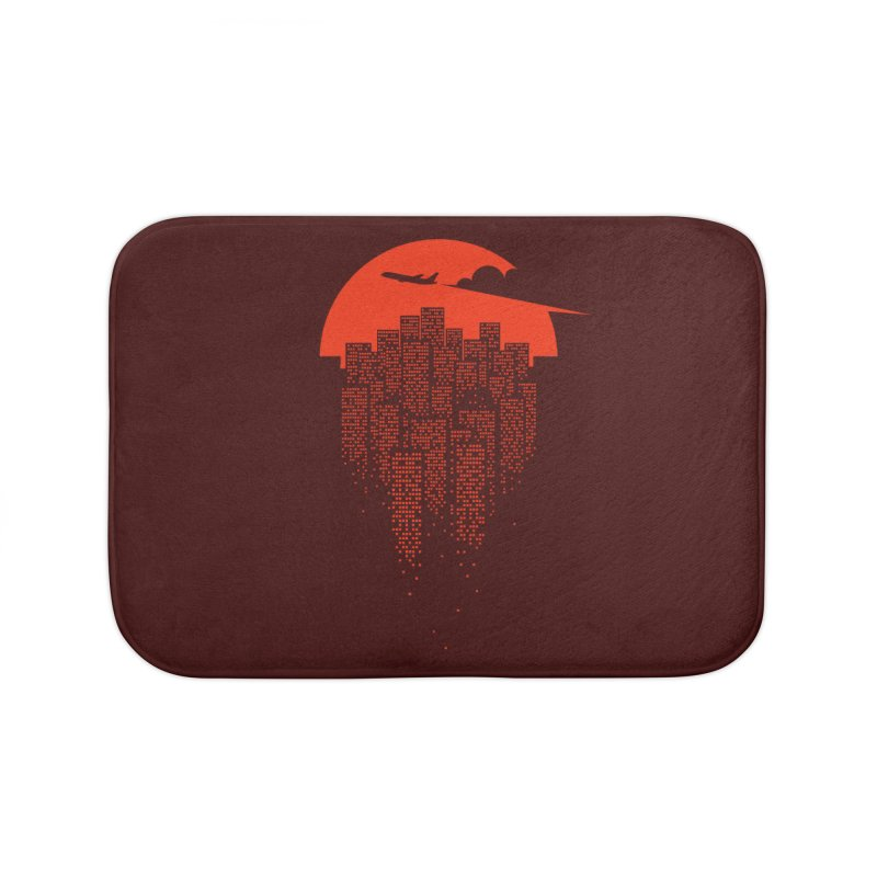 say goodbye to the city Home Bath Mat by netralica's Artist Shop