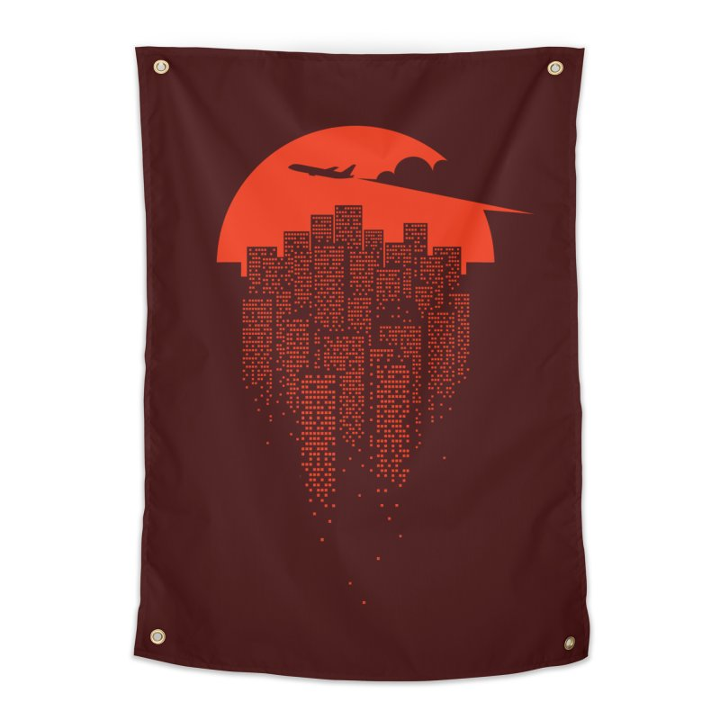 say goodbye to the city Home Tapestry by netralica's Artist Shop