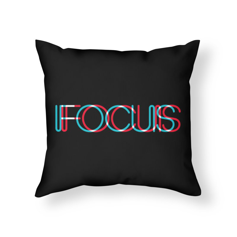 FOCUS Home Throw Pillow by netralica