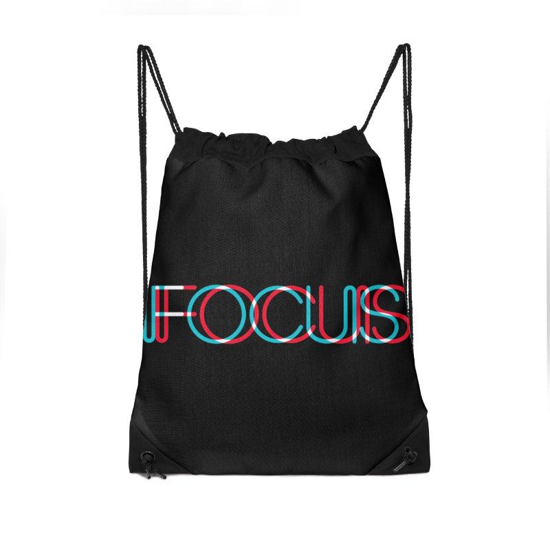 FOCUS Accessories Drawstring Bag Bag by netralica's Artist Shop