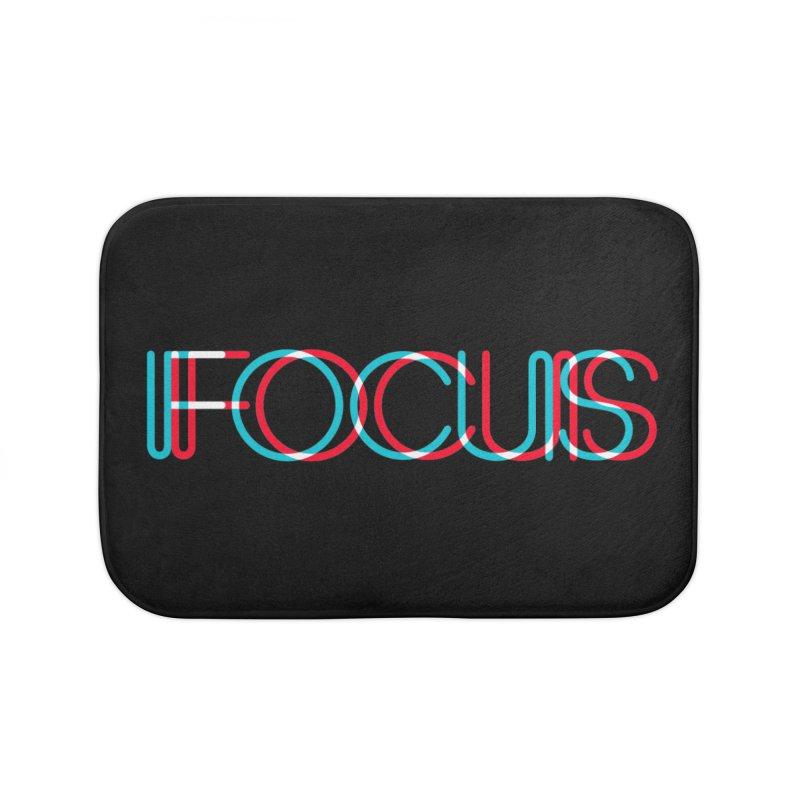 FOCUS Home Bath Mat by netralica's Artist Shop