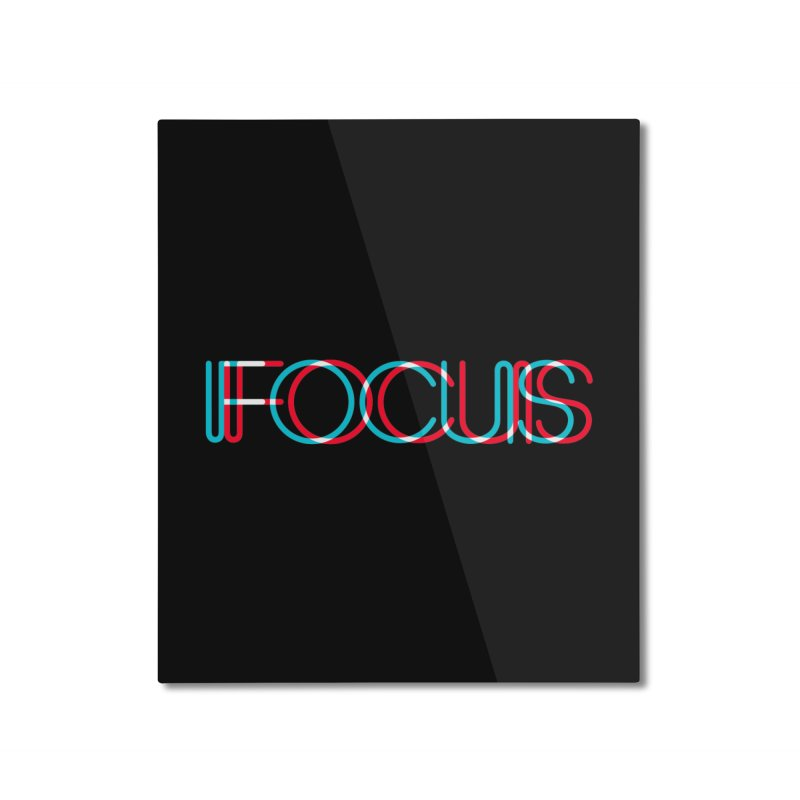 FOCUS Home Mounted Aluminum Print by netralica's Artist Shop