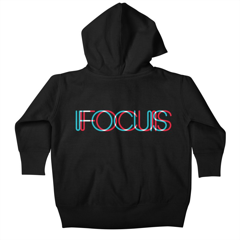 FOCUS Kids Baby Zip-Up Hoody by netralica's Artist Shop