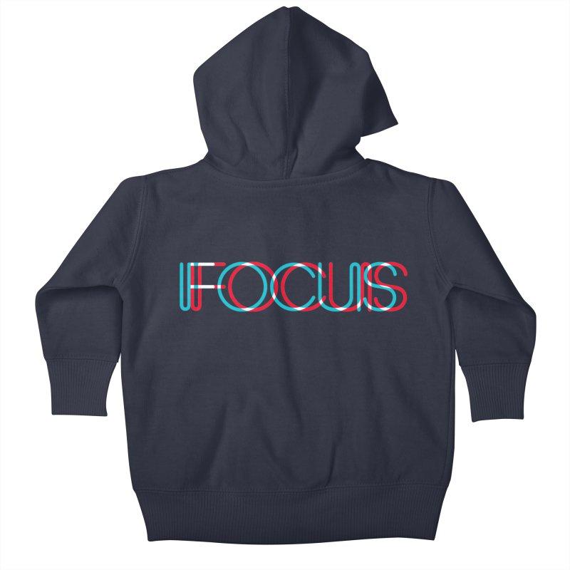 FOCUS Kids Baby Zip-Up Hoody by netralica's Artist Shop