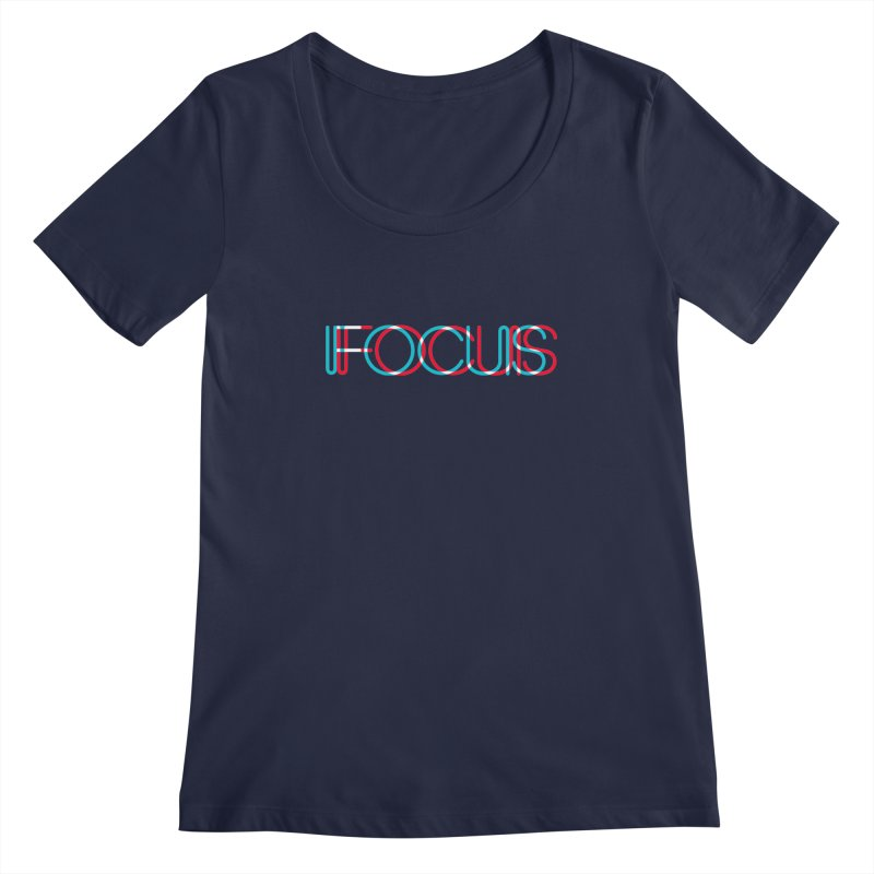 FOCUS Women's Scoopneck by netralica's Artist Shop