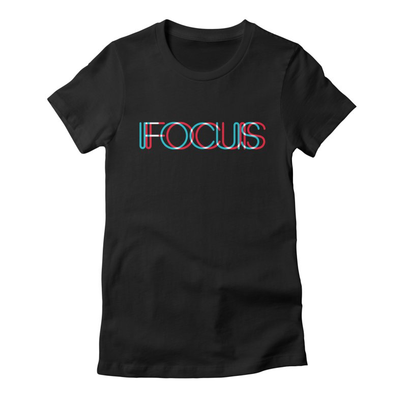 FOCUS Women's Fitted T-Shirt by netralica