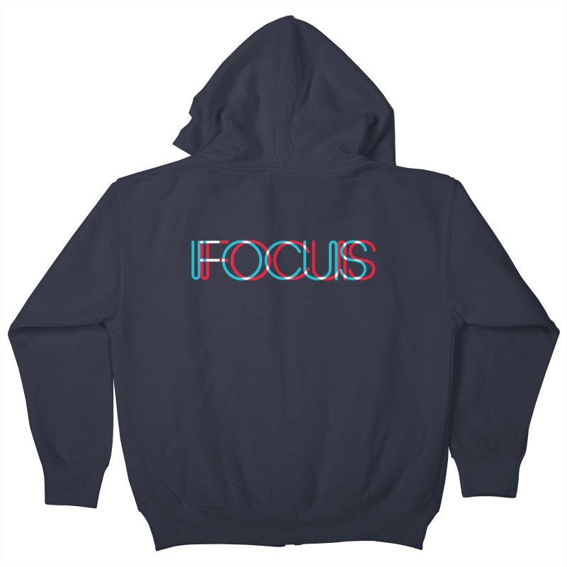 FOCUS Kids Zip-Up Hoody by netralica's Artist Shop