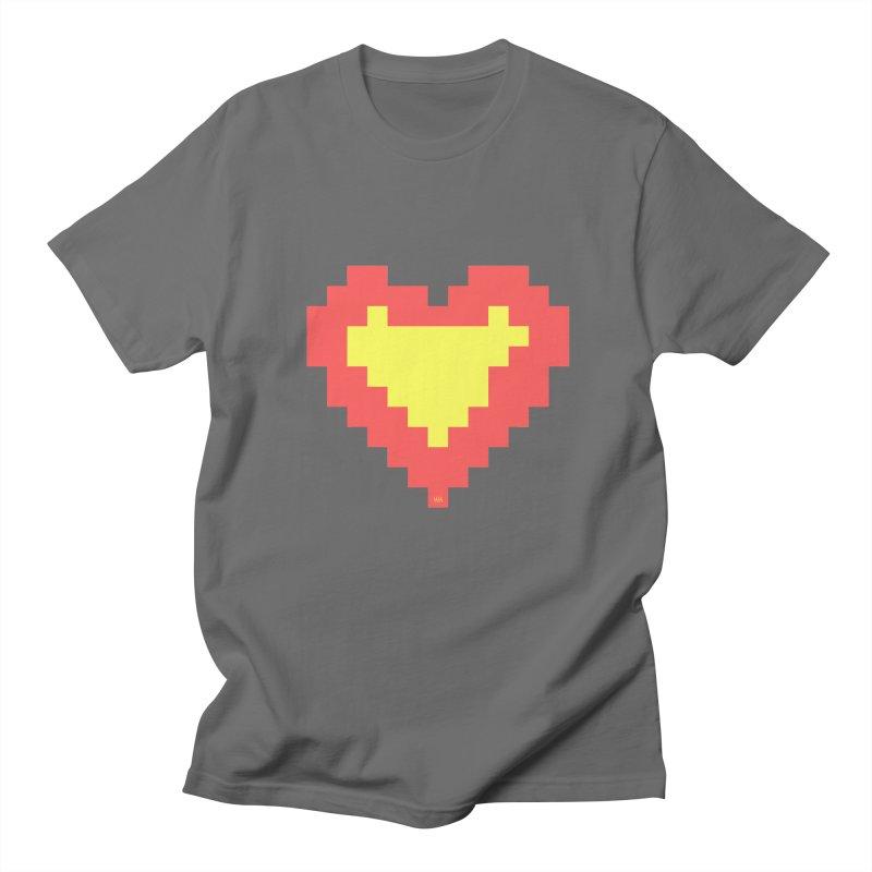 Digital Heart in Men's Regular T-Shirt Asphalt by Nevche's Artist T-shirt Shop | Unique Designs