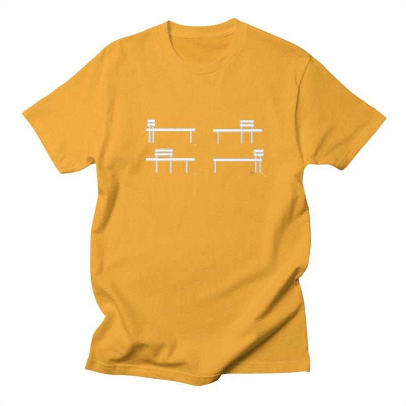Bench in Men's Regular T-Shirt Gold by Nevche's Artist T-shirt Shop | Unique Designs