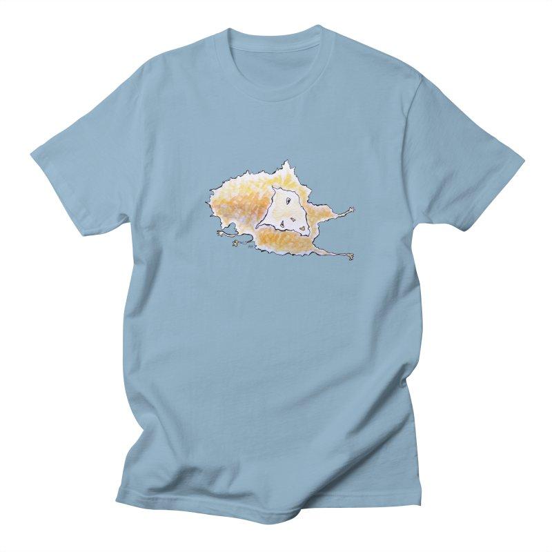Huggy Cat in Men's Regular T-Shirt Light Blue by Nevche's Artist T-shirt Shop | Unique Designs
