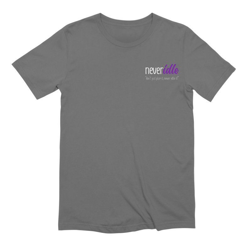 Never Idle - 2019 - Text + Slogan Men's Extra Soft T-Shirt by Never Idle