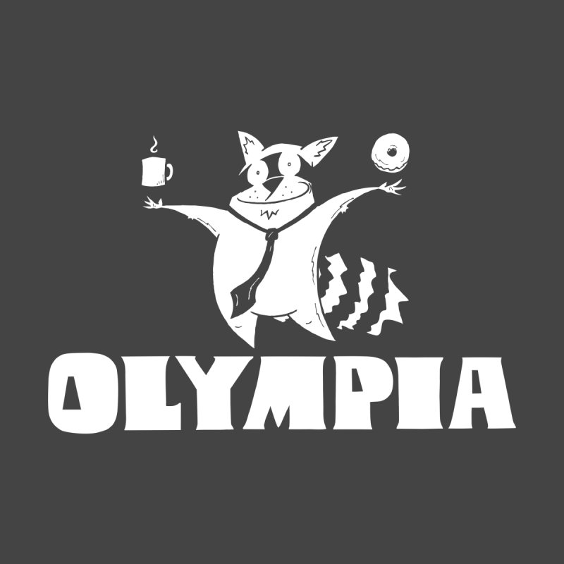 Olympia Raccoon Women's Scoop Neck by P. Calavara's Artist Shop
