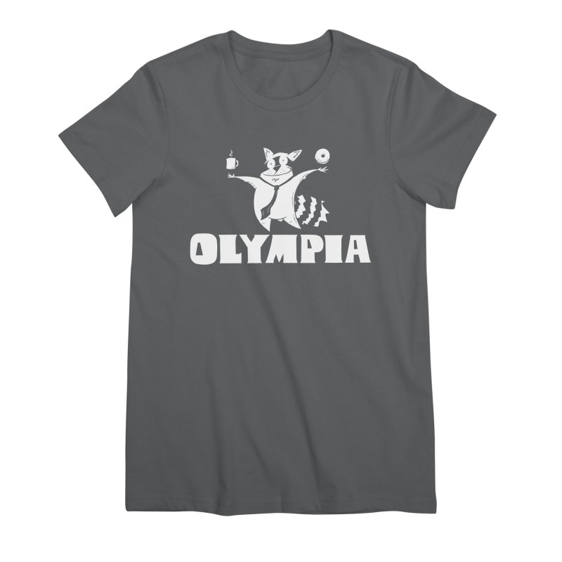 Olympia Raccoon Women's Premium T-Shirt by P. Calavara's Artist Shop