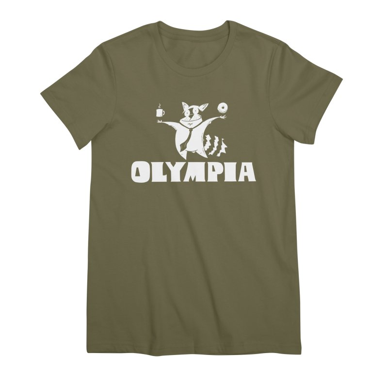 Olympia Raccoon Women's Premium T-Shirt by P. Calavara's Artist Shop