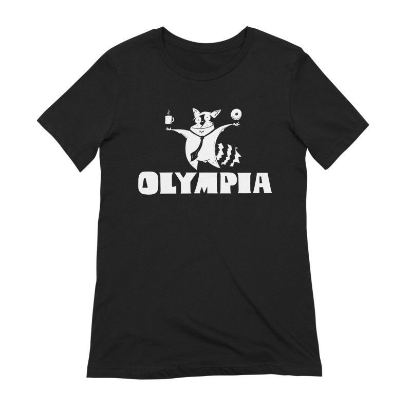 Olympia Raccoon Women's Extra Soft T-Shirt by P. Calavara's Artist Shop