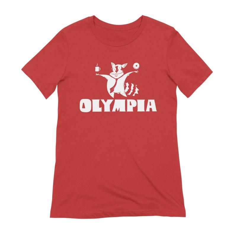 Olympia Raccoon Women's Extra Soft T-Shirt by P. Calavara's Artist Shop