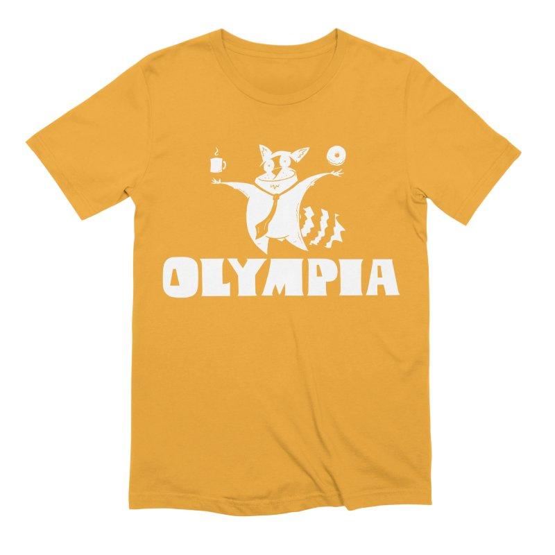 Olympia Raccoon Men's Extra Soft T-Shirt by P. Calavara's Artist Shop