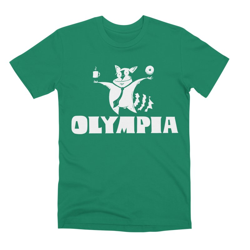 Olympia Raccoon Men's Premium T-Shirt by P. Calavara's Artist Shop