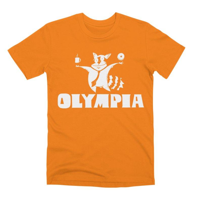 Olympia Raccoon Men's T-Shirt by P. Calavara's Artist Shop