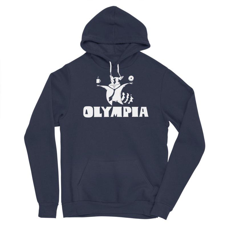 Olympia Raccoon Men's Sponge Fleece Pullover Hoody by P. Calavara's Artist Shop
