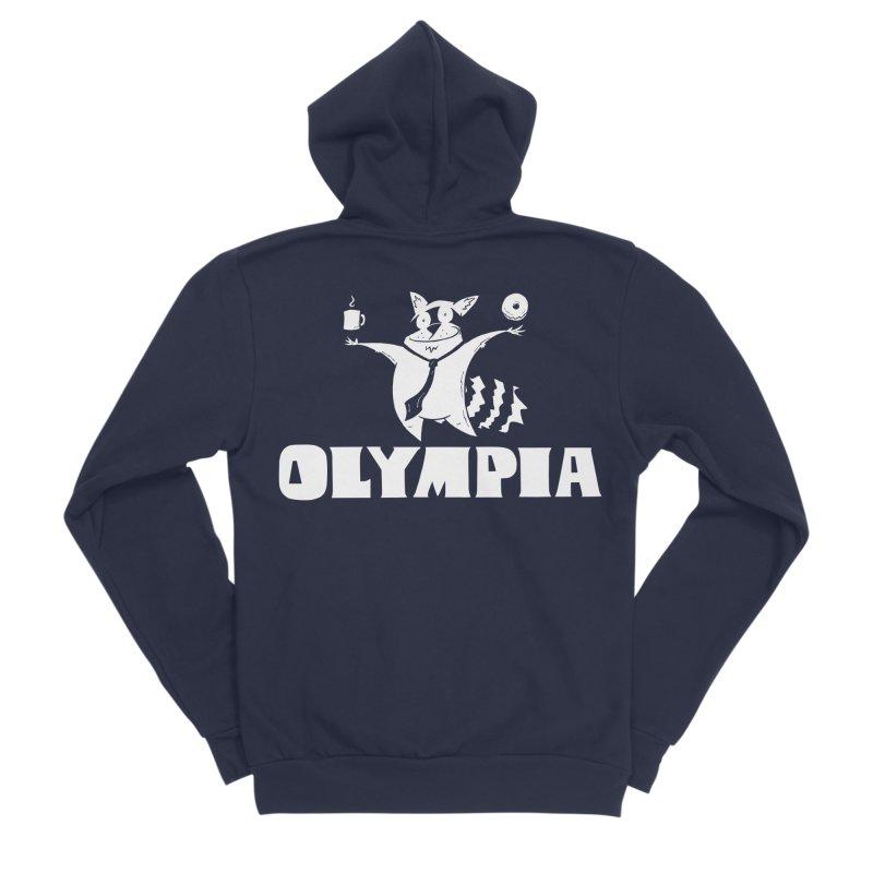 Olympia Raccoon Men's Sponge Fleece Zip-Up Hoody by P. Calavara's Artist Shop
