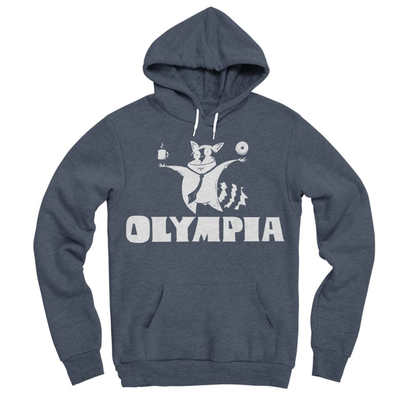 Olympia Raccoon Women's Sponge Fleece Pullover Hoody by P. Calavara's Artist Shop