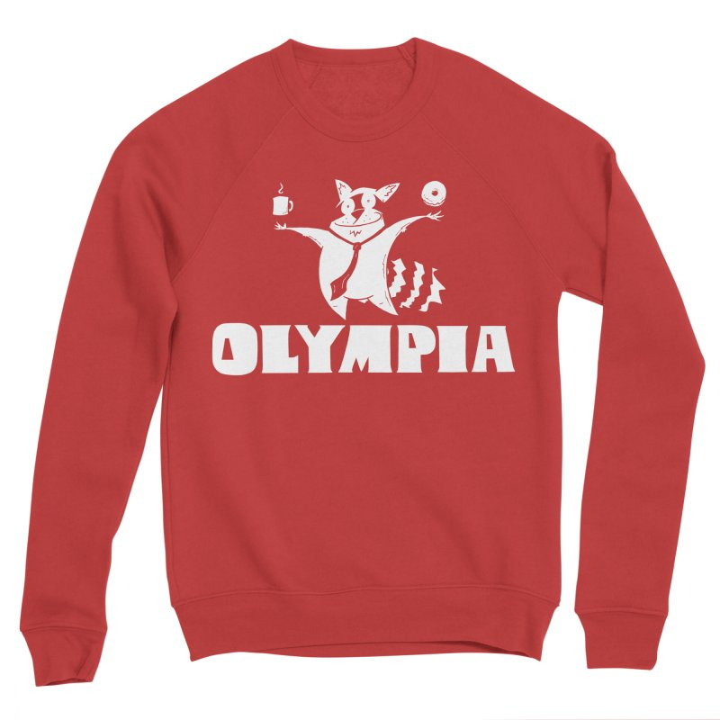 Olympia Raccoon Women's Sponge Fleece Sweatshirt by P. Calavara's Artist Shop