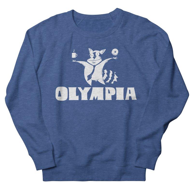 Olympia Raccoon Men's Sweatshirt by P. Calavara's Artist Shop