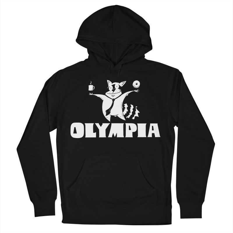 Olympia Raccoon Women's French Terry Pullover Hoody by P. Calavara's Artist Shop