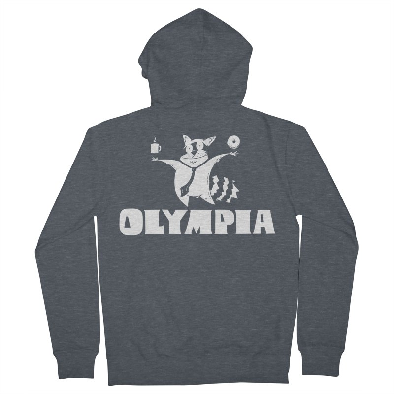 Olympia Raccoon Men's French Terry Zip-Up Hoody by P. Calavara's Artist Shop