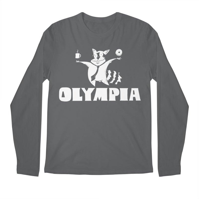 Olympia Raccoon Men's Longsleeve T-Shirt by P. Calavara's Artist Shop