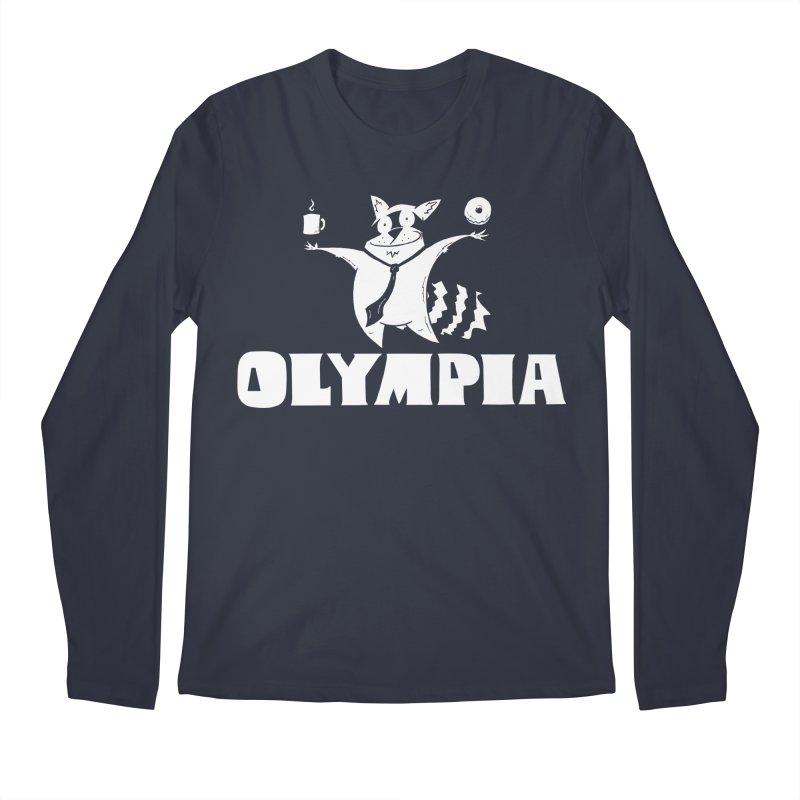 Olympia Raccoon Men's Regular Longsleeve T-Shirt by P. Calavara's Artist Shop