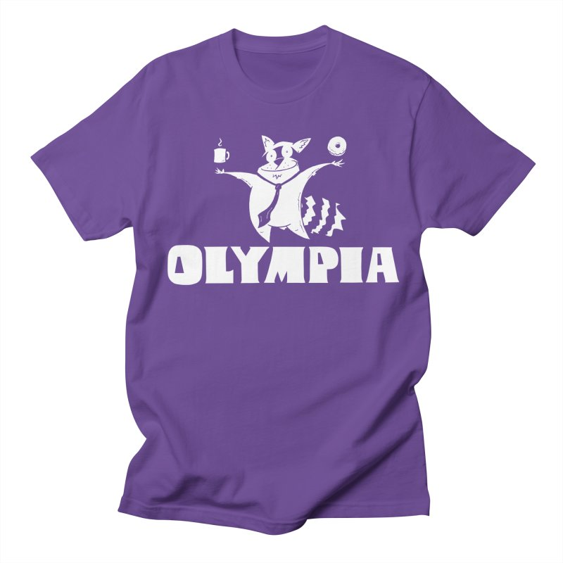 Olympia Raccoon Men's Regular T-Shirt by P. Calavara's Artist Shop