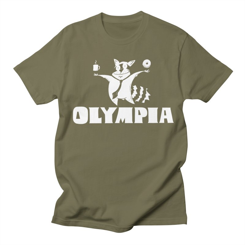 Olympia Raccoon Men's Regular T-Shirt by P. Calavara's Artist Shop