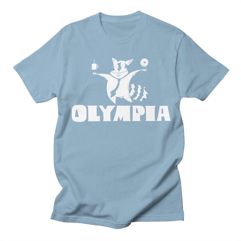 Olympia Raccoon Women's Regular Unisex T-Shirt by P. Calavara's Artist Shop
