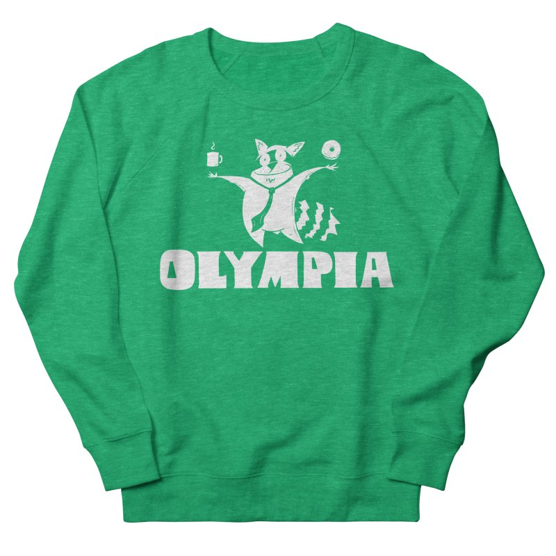 Olympia Raccoon Women's Sweatshirt by P. Calavara's Artist Shop