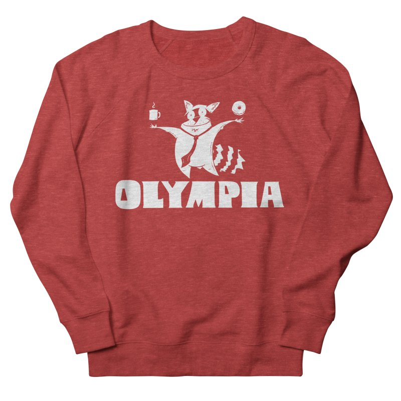 Olympia Raccoon Women's French Terry Sweatshirt by P. Calavara's Artist Shop