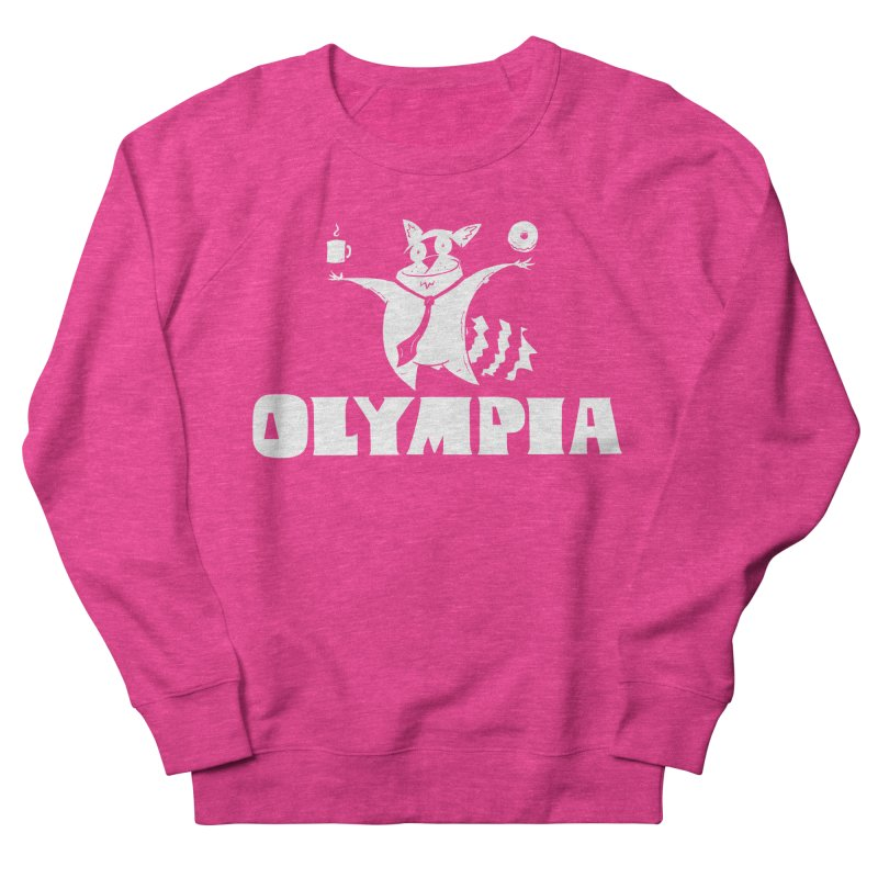 Olympia Raccoon Women's French Terry Sweatshirt by P. Calavara's Artist Shop