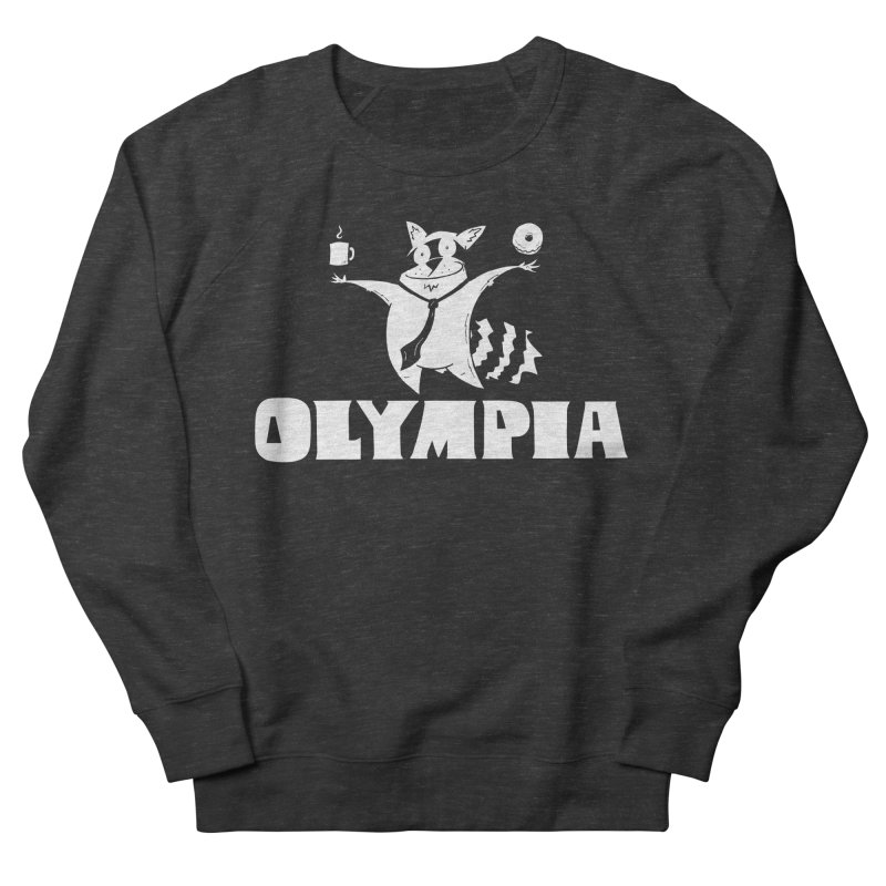 Olympia Raccoon Men's French Terry Sweatshirt by P. Calavara's Artist Shop