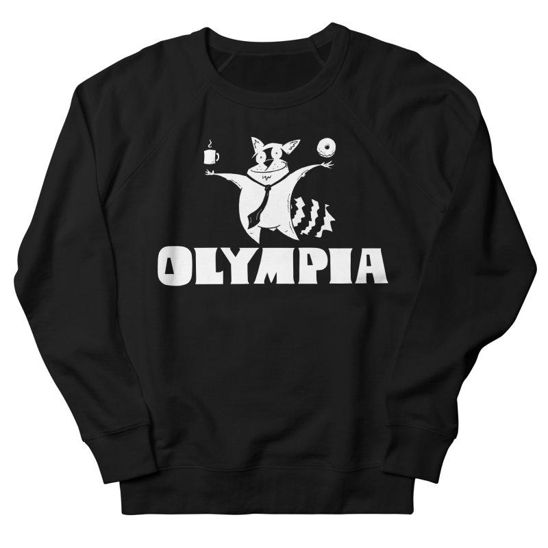 Olympia Raccoon Men's French Terry Sweatshirt by P. Calavara's Artist Shop