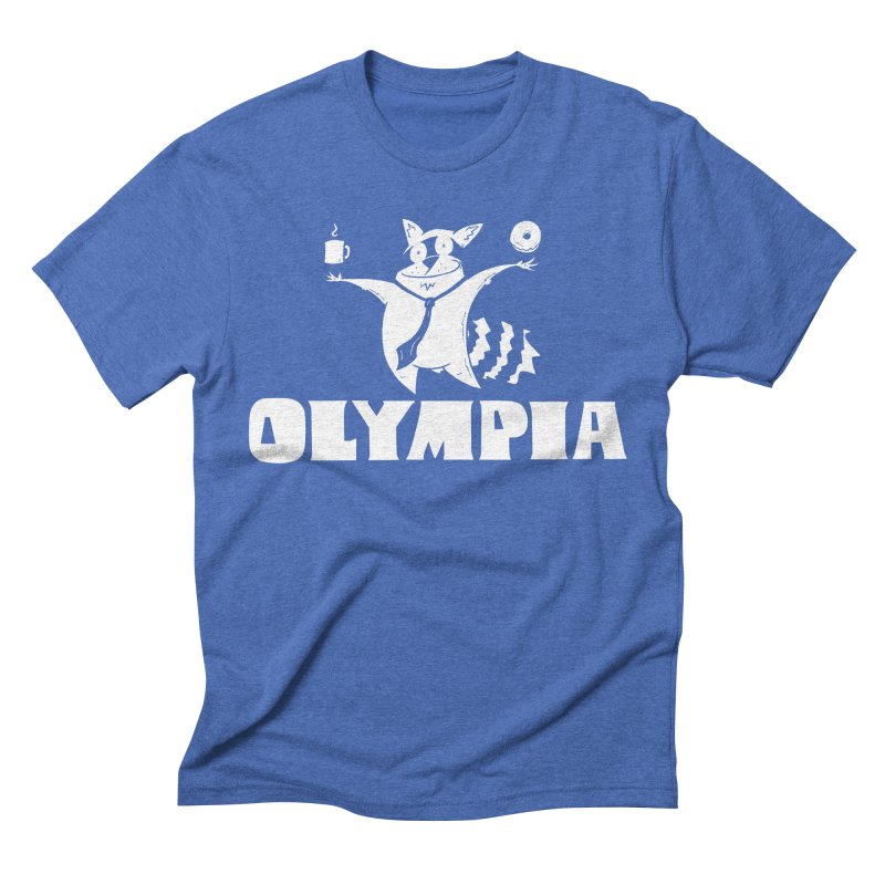Olympia Raccoon Men's T-Shirt by P. Calavara's Artist Shop