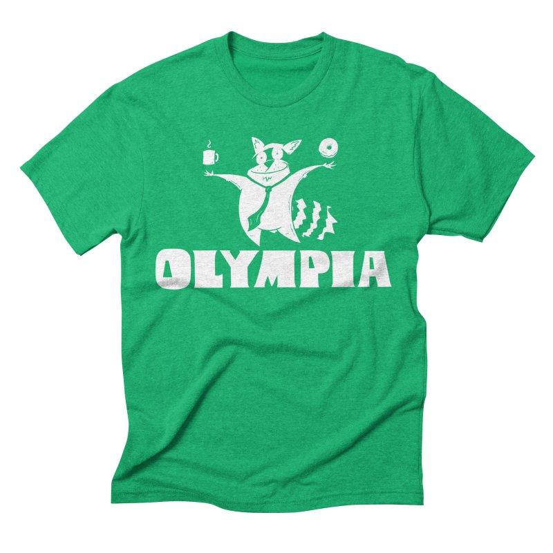 Olympia Raccoon Men's Triblend T-Shirt by P. Calavara's Artist Shop