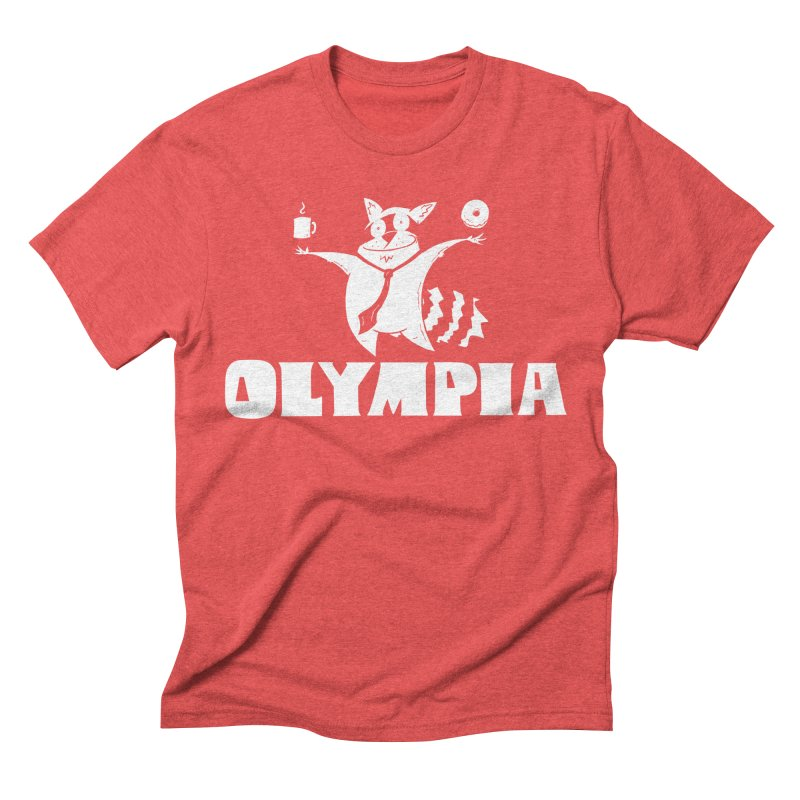 Olympia Raccoon Men's Triblend T-Shirt by P. Calavara's Artist Shop