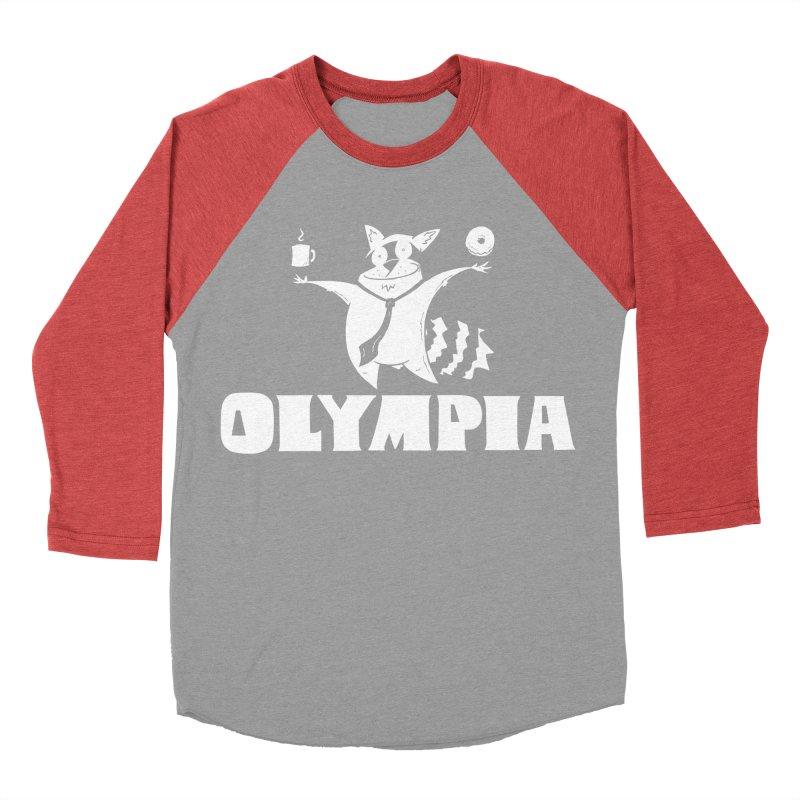Olympia Raccoon Women's Baseball Triblend Longsleeve T-Shirt by P. Calavara's Artist Shop