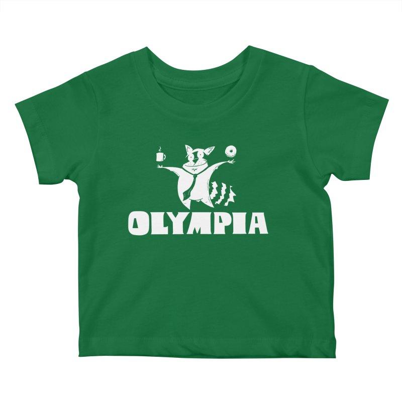 Olympia Raccoon Kids Baby T-Shirt by P. Calavara's Artist Shop