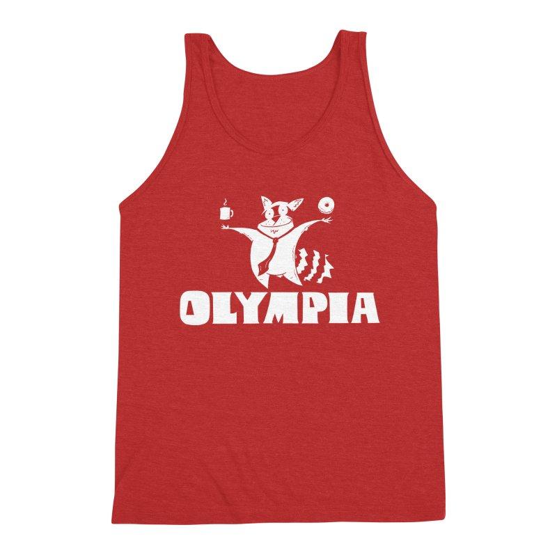 Olympia Raccoon Men's Triblend Tank by P. Calavara's Artist Shop