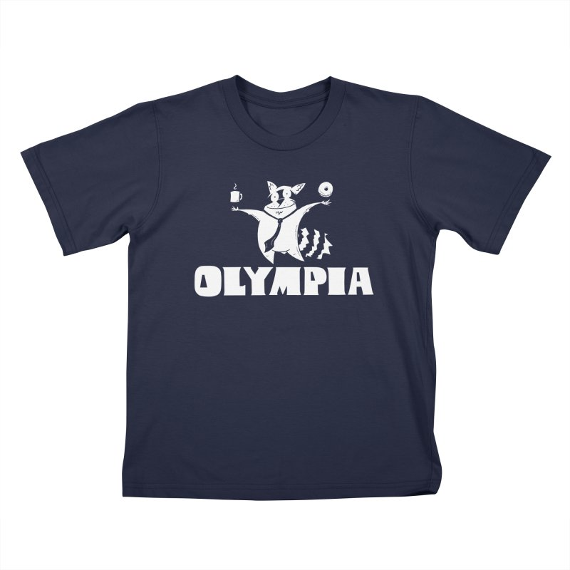 Olympia Raccoon Kids T-Shirt by P. Calavara's Artist Shop