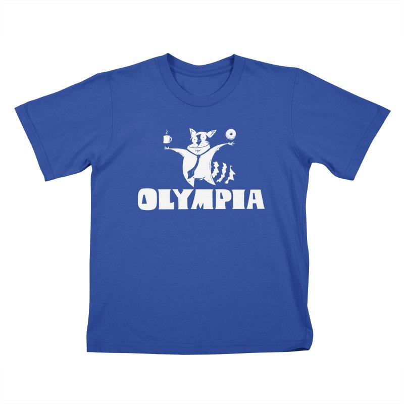 Olympia Raccoon Kids T-Shirt by P. Calavara's Artist Shop