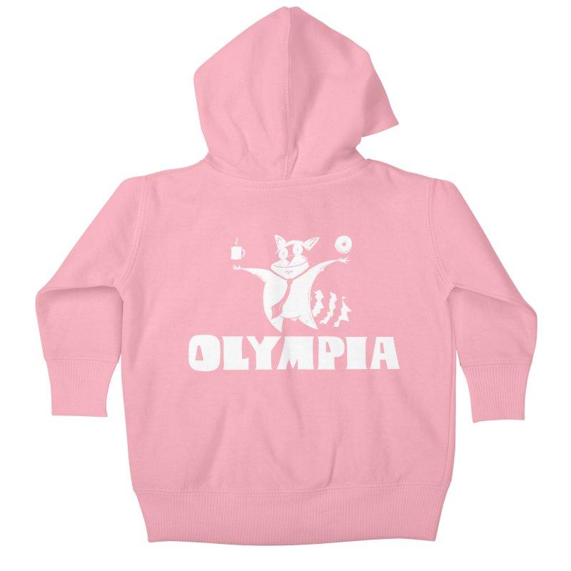 Olympia Raccoon Kids Baby Zip-Up Hoody by P. Calavara's Artist Shop